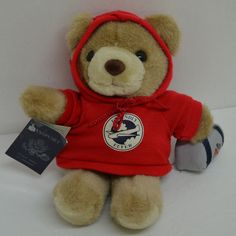 """Mary Meyer American Airlines Teddy Bear Plush Red Hoodie Passport Luggage 9"""" #MaryMeyer http://stores.ebay.com/Lost-Loves-Toy-Chest/_i.html?image2.x=24&image2.y=8&_nkw=mary+meyer"""