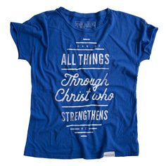 I Can Do All Things Pacific Blue Women's Relaxed T-Shirt - walk in love. - 1