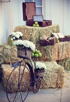 rustic gift table.  for a country wedding