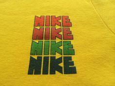 NIKE Shirt Rough Cut PINWHEEL 70s Vintage/ by sweetVTGtshirt