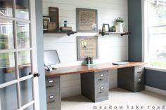 Desk of filing cabinet