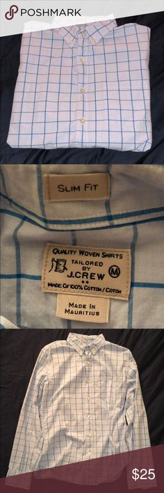 Blue checkered collared shirt Blue checkered collared shirt, in perfect condition. J. Crew Factory Shirts Dress Shirts