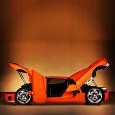 Funky, Vibrant Orange Koenigsegg CCR!