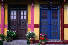Colourful houses of Gudhjem.
