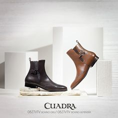 Un estilo, dos opciones de botín para el caballero elegante. #cuadra#botincaballero#botin#caballero2017#moda#fashion#cuadralifestyle