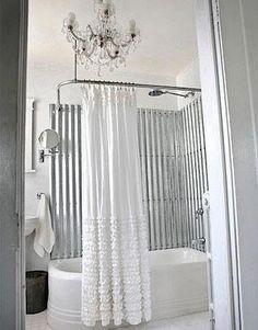 Corrugated metal shower by buddhakitti