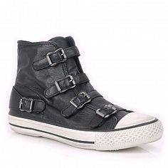 Ash Virgin Buckle Trainer Shoes, Black