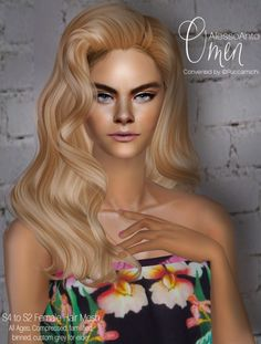 AlessoAnto 'Omen' to Female hair converted. Sims 2 Hair, Halo Hair, Alesso, Female Hair, Sims 1, One Hair, The Body Shop, My Girl, Natural Hair Styles