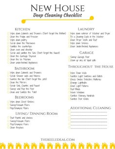 8 Things You Don't Want To Forget to Clean - The Keele Deal When you purchase a new home there are a lot of things to clean before move-in day. Today I'm sharing a few things you don't want to forget to clean and a free printable cleaning checklist. New Home Checklist, Deep Cleaning Checklist, Deep Cleaning Tips, House Cleaning Tips, Spring Cleaning, Cleaning Hacks, Moving Checklist Printable, Moving Cleaning Checklist, Moving House Checklist