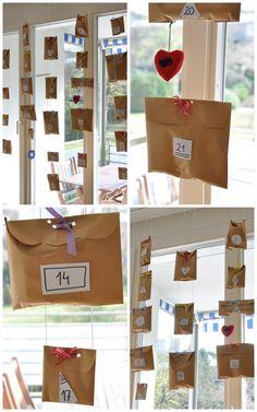 Idees x fer el nostre propi calendari d'advent.....xocolatines, fruita, frases boniques, activitats empàtiques....