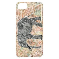 Tribal Paisley Elephant Colorful Henna Pattern Cover For iPhone 5C