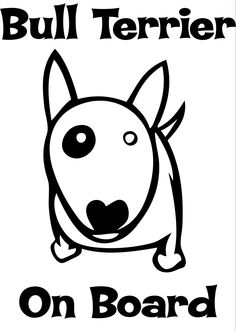 bull terriers art stickers - Google Search