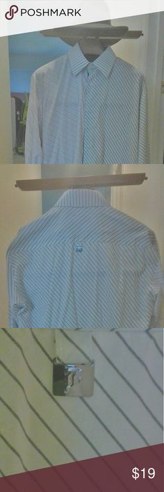 Bare Fox mens 'shirt szXL $22+free cufflinks Bare Fox men's shirt size extra large$22 French cuffs pre-owned condition excellent no stains plus free gift men's cufflink bare Fox Shirts Dress Shirts