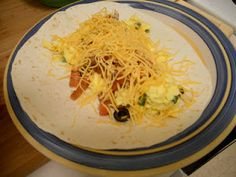 Super amazing breakfast tacos w/homemade salsa!!!!