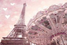 Paris Photography Paris Carousel Baby Girl Nursery by KathyFornal