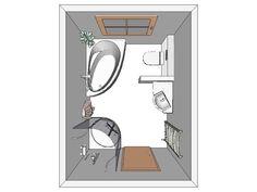 Architecture / Interior Aufteilung, kleines Bad...
