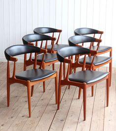 Vintage Danish Teak Set Of 6 Johannes Andersen BA 113 Dining Chairs Mid Century