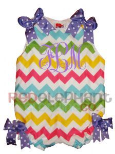Girls Chevron Romper, Easter Chevron Outfit, Toddler Chevron Clothing from www.redelephantclothing.com