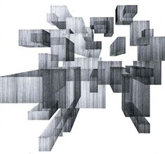 From Lines to Volumes: Architectural Drawings by Kristin Arestava