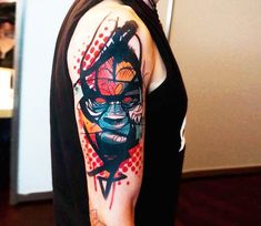 Abstract Gorila portrait tattoo by Dynoz Art Attack