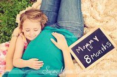 Maternity , preggo, pregnant , mother , daughter, belly , 8 months , teal shirt , jeans , love , smile https://www.facebook.com/sarahmattixphotographer