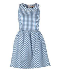 Another great find on #zulily! Blue & White Gingham Dustie Dress by Louche #zulilyfinds
