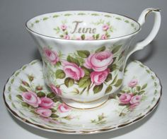 Royal Albert June Teacup Cup Roses Flower Month by AHOTStores, $44.99