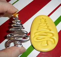 Christmas Tree Flexible Mold  Mould For Resin Paper Clay Sculpey Fimo Polymer Premo Wax Chocolate  H233. $7.95, via Etsy.