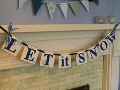 Let it Snow Holiday Garland Christmas Banner by anyoccasionbanners