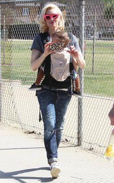Gwen Stefani takes her boys Kingston, Zuma and Apollo to the park