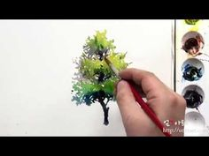 How to paint the various tree by Um KyungHo - YouTube