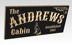 Personalized Family Cabin Sign 23 x 9 Poplar Last by TKWoodcrafts, $49.95