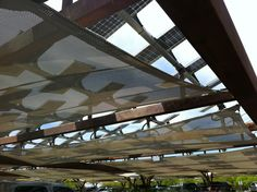 The lovely solar parking canopies at the Springs Preserve not only look striking, the provide shade for cars and CLEAN power for this LEED certified building.