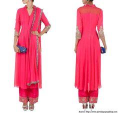 Neon pink Salwar suits