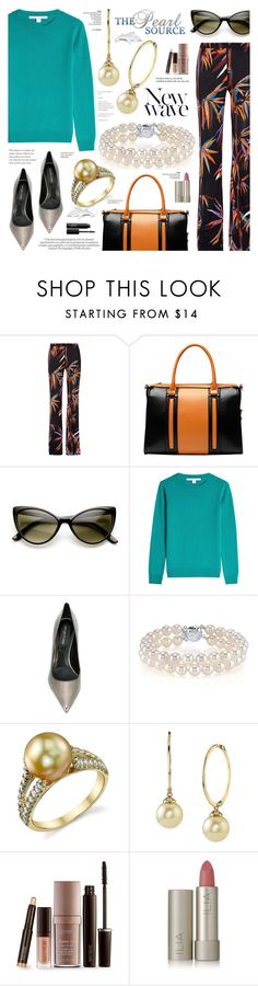 """""""The Pearl Source 45"""" by anyasdesigns ❤ liked on Polyvore featuring Emilio Pucci, Vicenzo Leather, ZeroUV, Diane Von Furstenberg, Sergio Rossi, Anja, Laura Mercier, Ilia, Tiffany & Co. and NARS Cosmetics"""