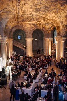 My Absolute Dream Venue Just Like SATCNew York Public Library Wedding And I Love The Booth Seating