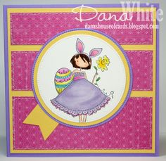 Uptown Girl Bunny has a Daffodil - image from Stamping Bella