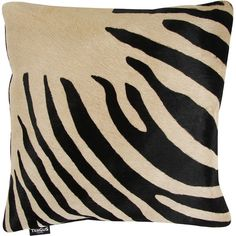 Amara Zebra Print Cowhide Cushion - 45x45cm - Black / Beige ($99) ❤ liked on Polyvore featuring home, home decor, throw pillows, black, zebra throw pillows, black throw pillows, black home decor, zebra home decor and ivory throw pillows