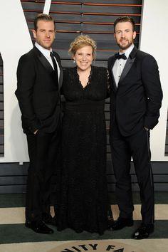 Chris Evans and His Sister at the Oscars 2016 | POPSUGAR Celebrity