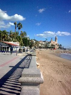**Passeig Maritim (beach, promenade, cafes and restaurants) - Sitges, Spain Sitges, Hotels And Resorts, Best Hotels, Places To Travel, Places To Go, Barcelona, Seaside Towns, Trip Advisor, The Good Place