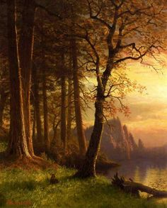 Albert Bierstadt(1830-1902)Sunset in California, YosemiteOil on canvas55.88 x 72.39cmPublic collection