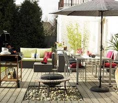22 Outdoor Decor Ideas From porches to patios, transform your outdoor space with smart decorating tricks. Outdoor Rooms, Outdoor Living, Outdoor Furniture Sets, Outdoor Decor, Outdoor Fire, Modular Furniture, Terrasse Design, Patio Design, House Design