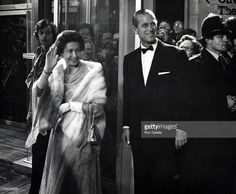 HM The Queen Elizabeth II and Prince Philip during Opening of National Theater at South Bank in London, England, Great Britain.