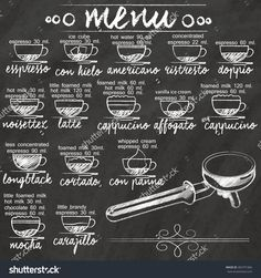 stock-vector-list-the-composition-of-the-mixture-of-coffee-hand-drawn-on-a-blackboard-282791966.jpg (1500×1600)