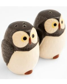 These owl salt and pepper shakers from Japan add just the right amount of whimsy.