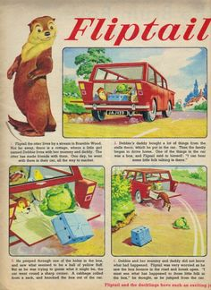 Fliptail the Otter from Jack and Jill 1967