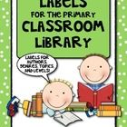 Updated Today:  This set includes 132 cards to help you label an organized classroom library in the primary grades (K-2).  It includes many authors, topics, characters, book levels, and more.  $5.00