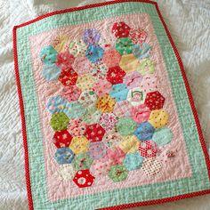 hexagon doll quilt by nanaCompany, via Flickr