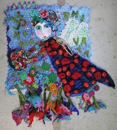 Aum Namaha Shivaja, Marie-Louise Fijneman, fiberart quilt