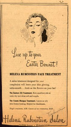 Another vintage ad by Helena Rubenstein.